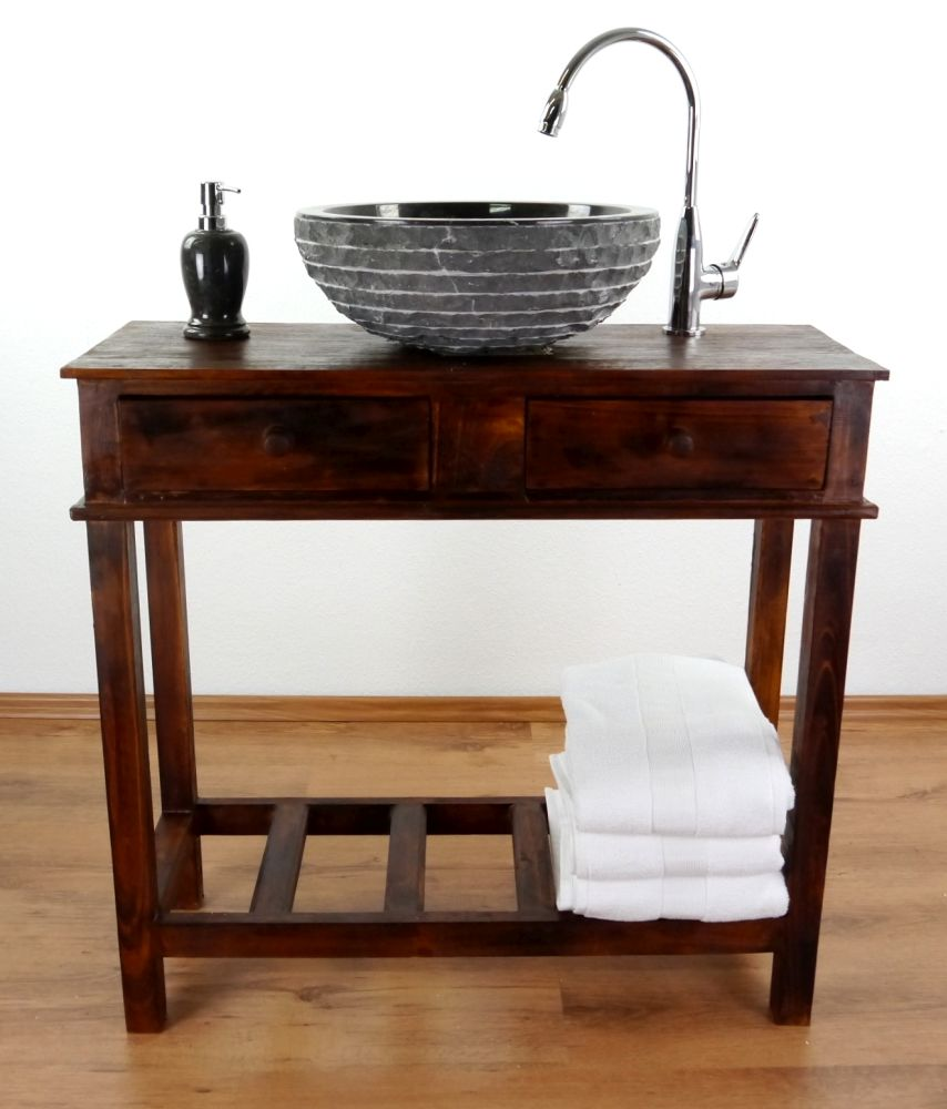 waschbecken marmor aufsatzbecken waschtisch waschschale handwaschbecken bali ebay. Black Bedroom Furniture Sets. Home Design Ideas