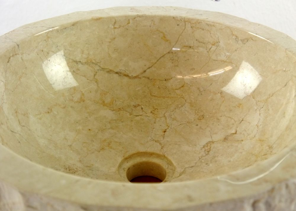 waschbecken marmor waschschale aufsatzbecken waschtisch handwaschbecken bali ebay. Black Bedroom Furniture Sets. Home Design Ideas