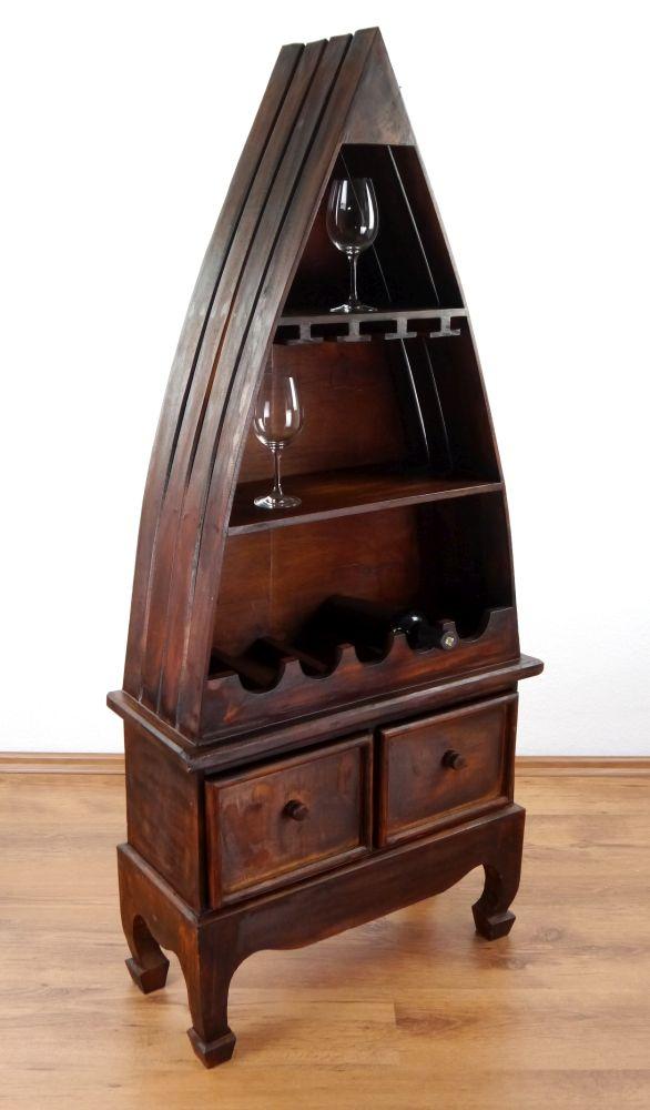 weinflaschenregal boot mit schubladen vinothek flaschenregal weinschrank. Black Bedroom Furniture Sets. Home Design Ideas
