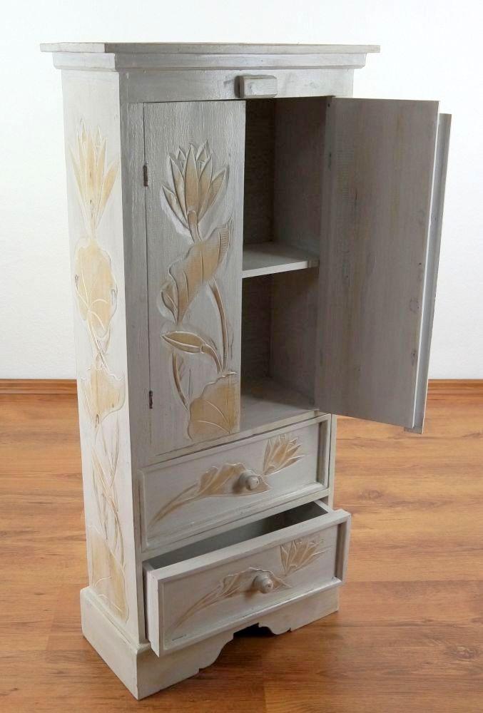 2 t riger schrank mit 2 schubladen kommode holzschrank aus. Black Bedroom Furniture Sets. Home Design Ideas