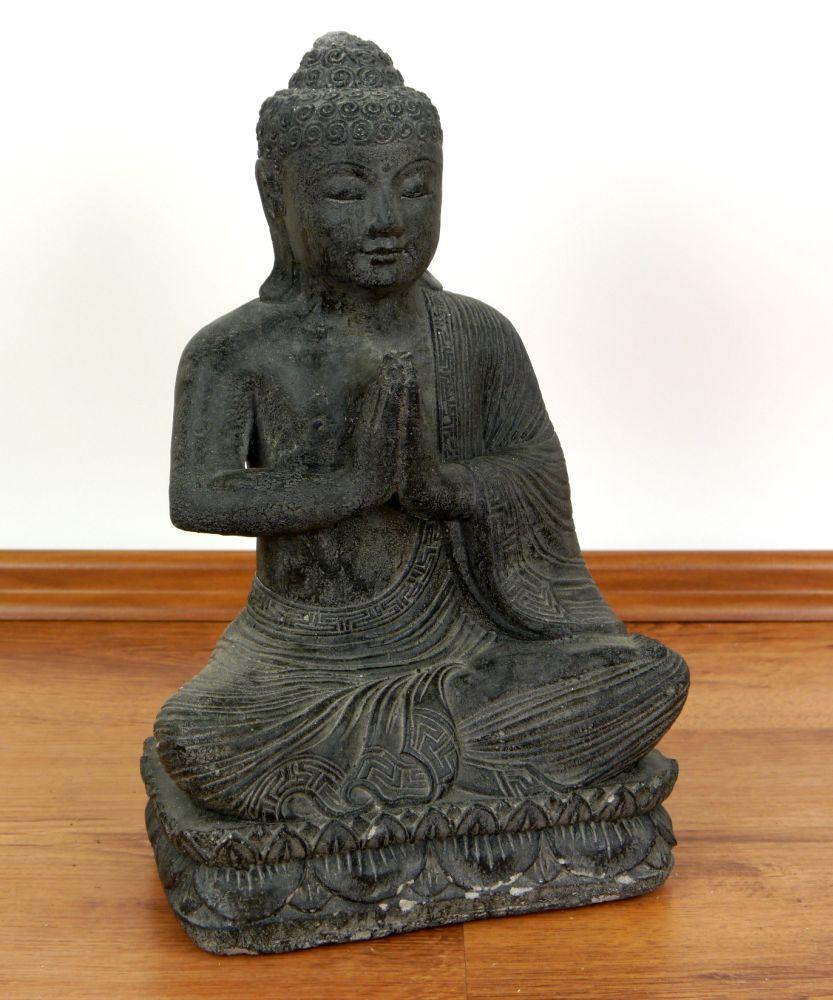 Bali Buddha Steinfigur Sitzend Skulptur Statue Dekofigur
