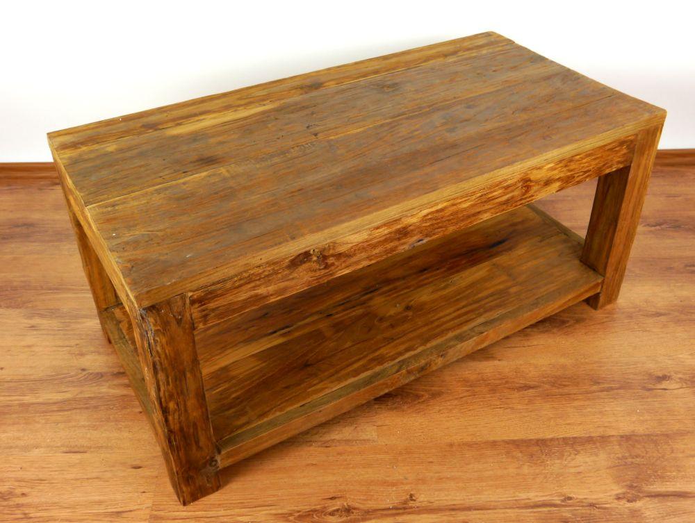 Reclaimed teak wood coffee table rustic design handmade for Reclaimed wood furniture colorado