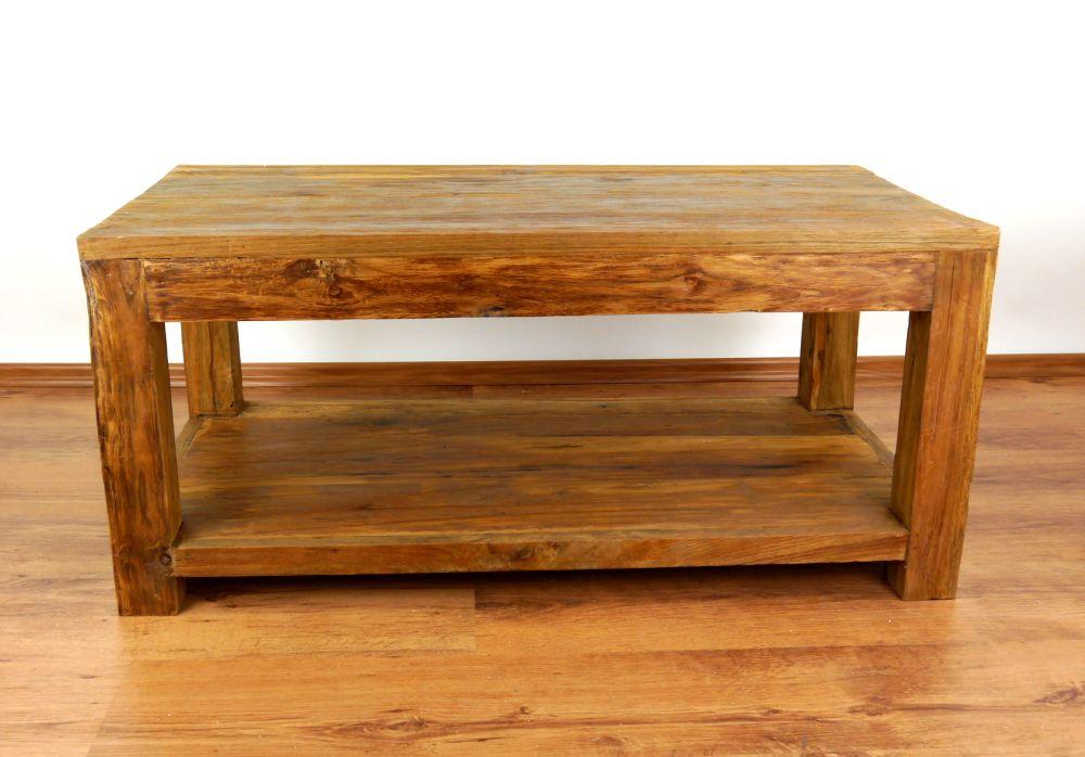 Reclaimed Teak Wood Coffee Table Rustic Design Handmade Java Furniture Indonesia Ebay