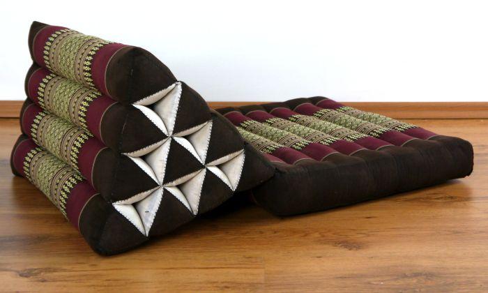thail ndisches dreieckskissen thaikissen liegematte sitzkissen thaimatte boden ebay. Black Bedroom Furniture Sets. Home Design Ideas