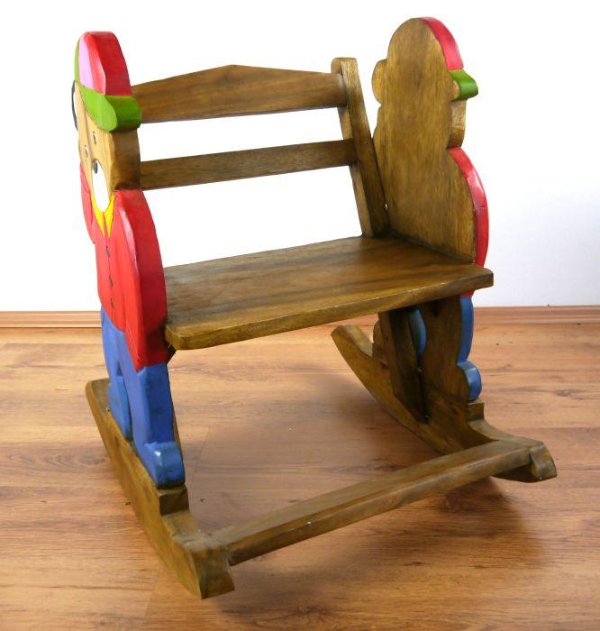 Schaukelstuhl teddy massivholz stuhl kinder baby for Schaukelstuhl baby