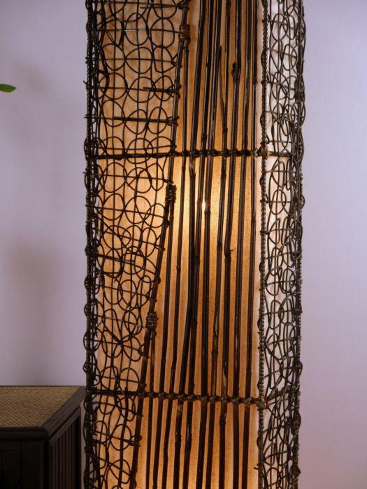 Wohnzimmerlampe Orientalisch Bambus Stehlampe Standleuchte Handarbeit EBay