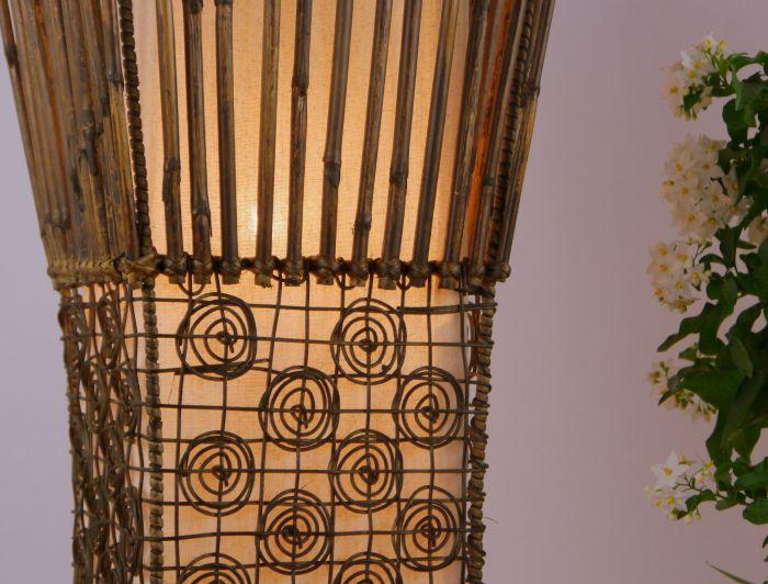 Wohnzimmerlampe Design Konkav Stehlampe Standleuchte Lampe Handarbeit Bambus