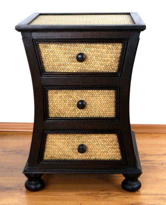 rattankommode geschwungen nachtschr nkchen asiatische. Black Bedroom Furniture Sets. Home Design Ideas
