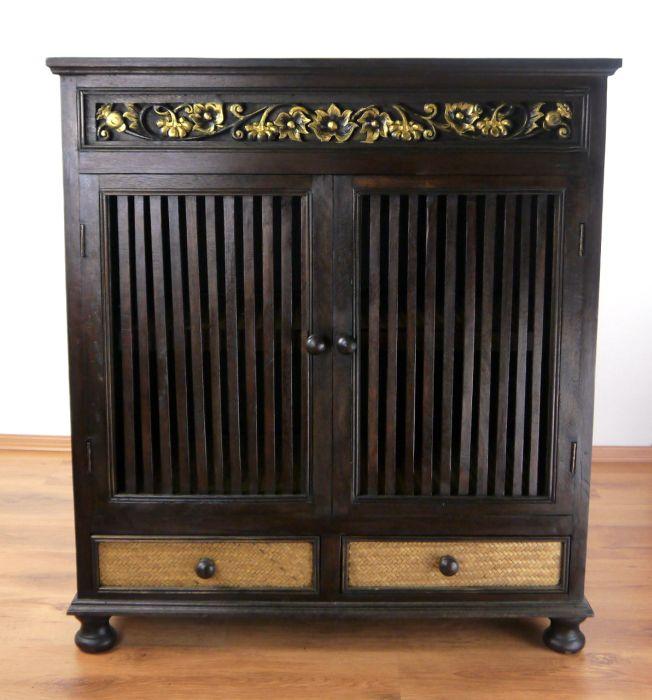rattanschrank kommode massivholz handarbeit asiatische. Black Bedroom Furniture Sets. Home Design Ideas