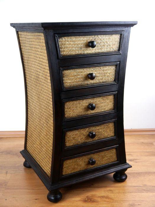 rattankommode schubladenschrank asia kommode handarbeit. Black Bedroom Furniture Sets. Home Design Ideas