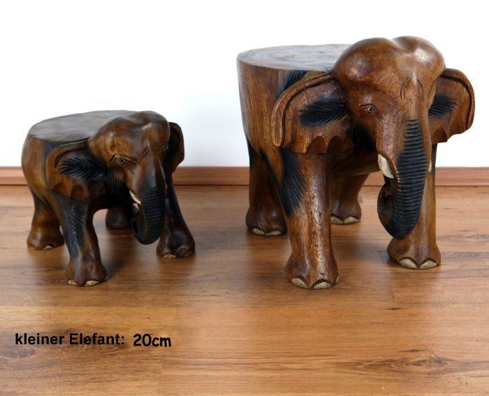 elefanten mit flachem r cken als hocker thai ambiente ebay. Black Bedroom Furniture Sets. Home Design Ideas
