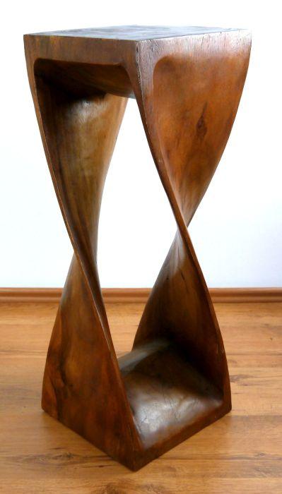 massivholzs ule gedreht beistelltisch hoch barhocker massivholzhocker ebay. Black Bedroom Furniture Sets. Home Design Ideas