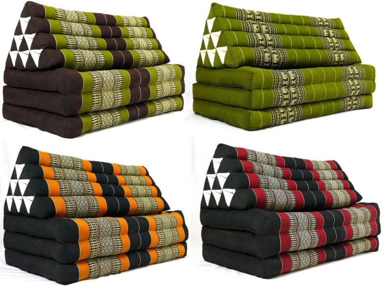 riesen xxl thaikissen asia dreieckskissen liegematte sitzkissen bodenkissen yoga ebay. Black Bedroom Furniture Sets. Home Design Ideas