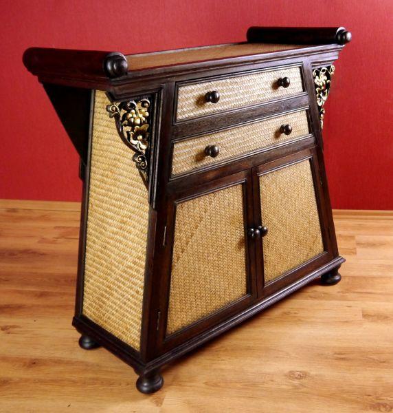 rattanschrank asiatisch thai bali indonesien kommode. Black Bedroom Furniture Sets. Home Design Ideas