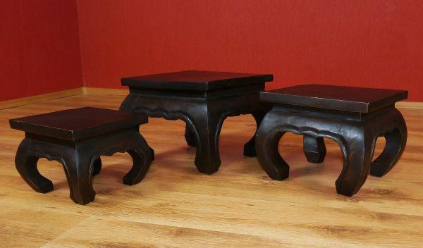 opiumtische schwarz klein beistelltische couchtisch. Black Bedroom Furniture Sets. Home Design Ideas