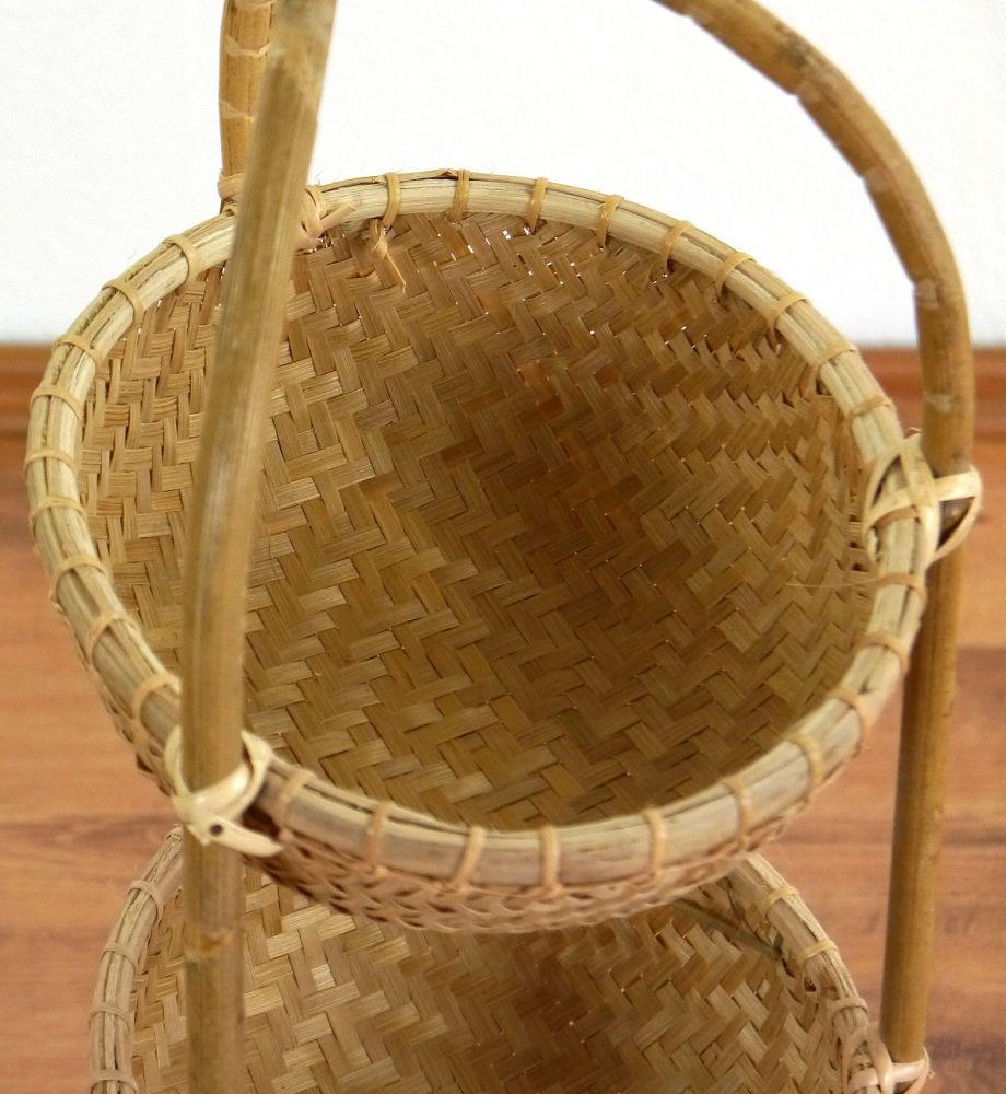 bambusregal mit 3 k rben bambusk rbe badezimmer k chen. Black Bedroom Furniture Sets. Home Design Ideas