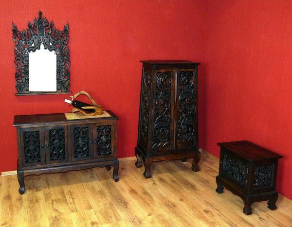 Sideboard 4t ren mit schnitzerei anrichte massivholz for Sideboard orientalisch